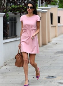 George-Clooneys-Fiance-Amal-Alamuddin-looked-pretty-in-pink-on-her-way-to-lunch